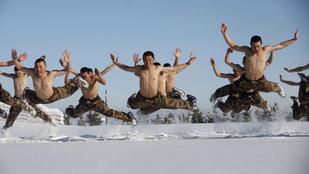 Fázik? Észak-Kínában -26 fokban volt a hidegtűrés-edzés
