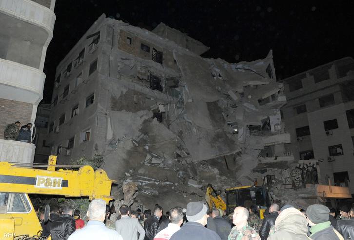A légicsapás helyszíne Damaszkuszban