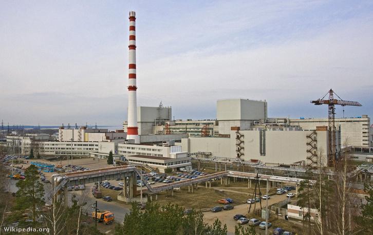 A Leningrád megyei Szosznovij Borban lévő atomerőmű