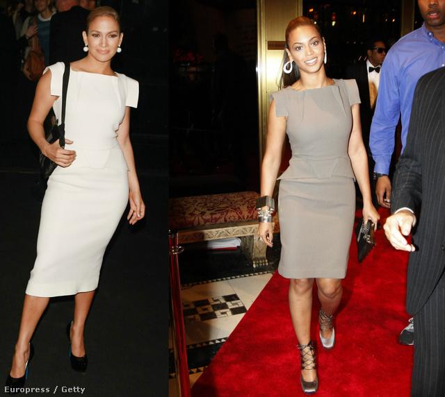 2008-ban mindketten egy különleges vállmegoldással rendelkező ruhában jelentek meg