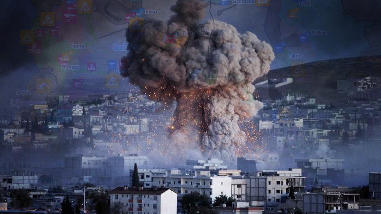 Térképen ez egész szíriai válsággóc!