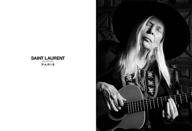 Joni Mitchell a Saint Laurent kampányban.