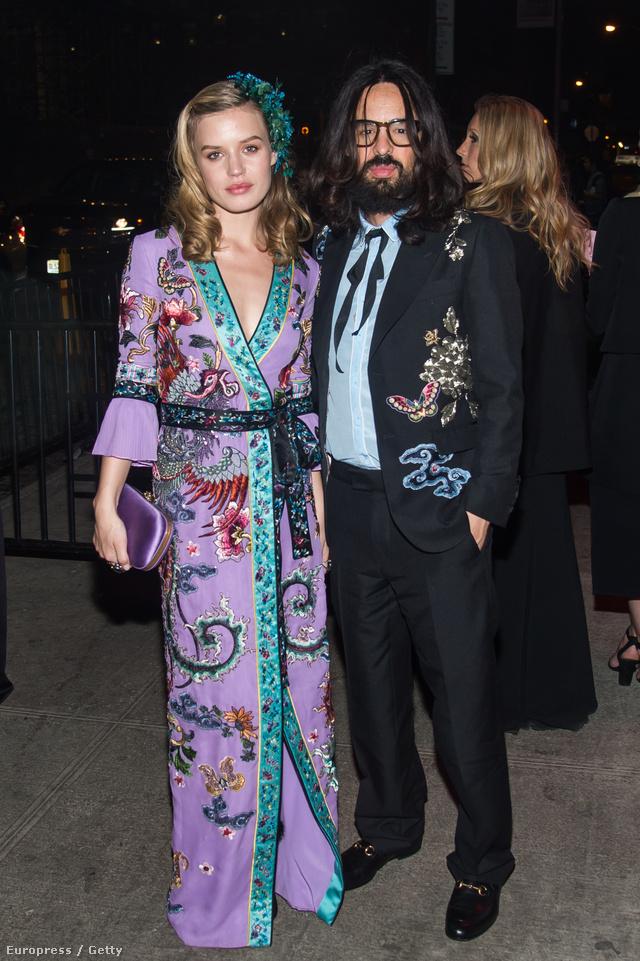 A Gucci új kreatív igazgatója, Alessandro Michele és Georgia May Jagger a New York-i Met gálán.