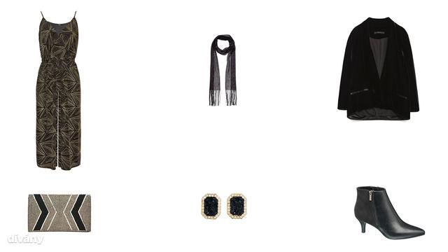 Overall - 8990 Ft (F&F), sál - 2390 Ft (F&F), kabát - 8995 Ft (Zara), táska - 65 font (Becksonergaard/Asos), fülbevaló - 1790 Ft (H&M), bokacsizma - 7990 Ft (Deichmann)