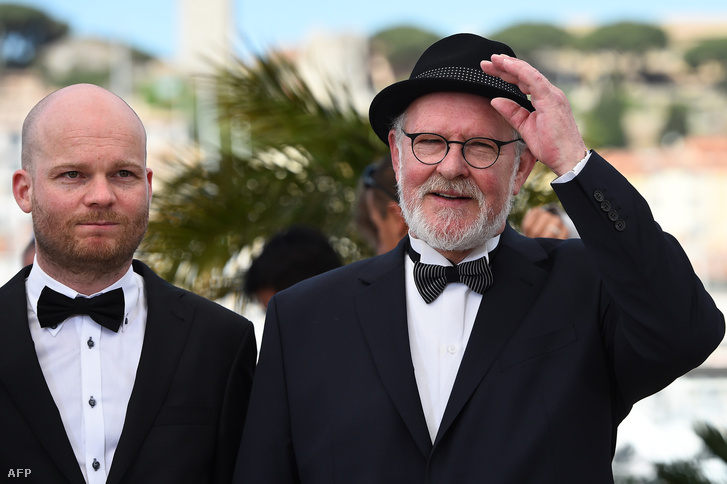 Grímur Hákonarson és Theodor Juliusson a 68. Cannes-i fimfesztiválon, 2015. május 15-én.