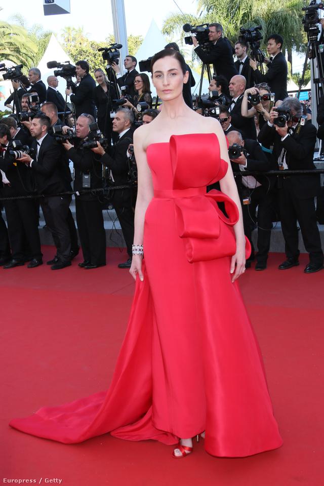 Erin O ' Connor modell ebben a masnis Ralph & Russo estélyiben ment el a Carol premierjére a Cannes-i Filmfesztiválon.