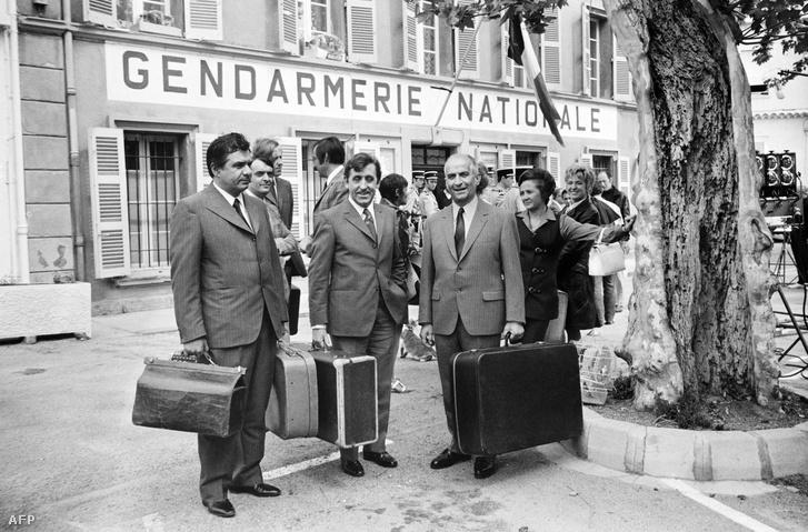 Michel Galabru, Jean Lefevre és Louis de Funès Saint-Tropez-ban