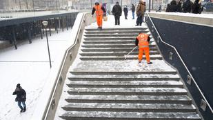 Leesett a hó, sok helyen pótlóbuszok közlekednek Budapesten