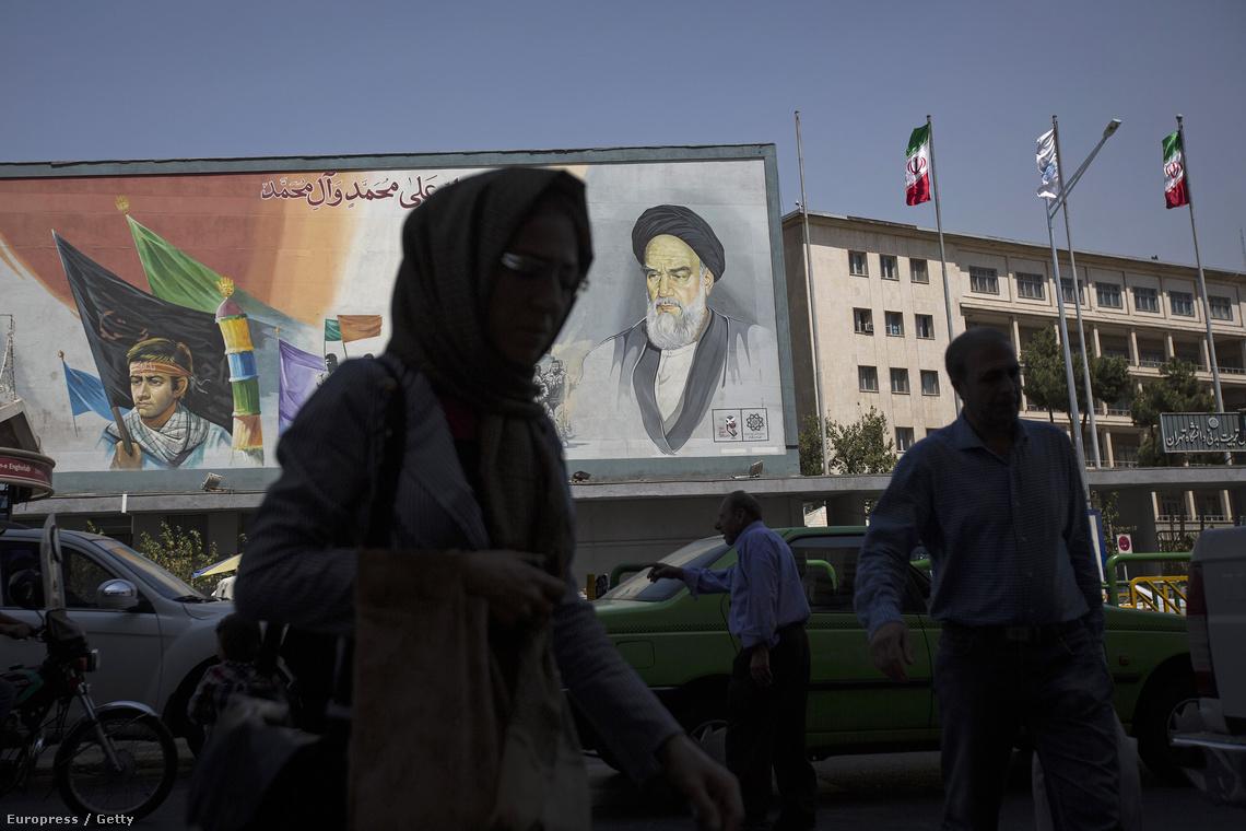 Teheráni utcakép