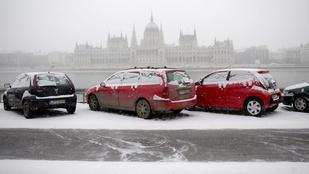 Több órás ónos eső és 5 centis hó: ezek várnak ma a fővárosra