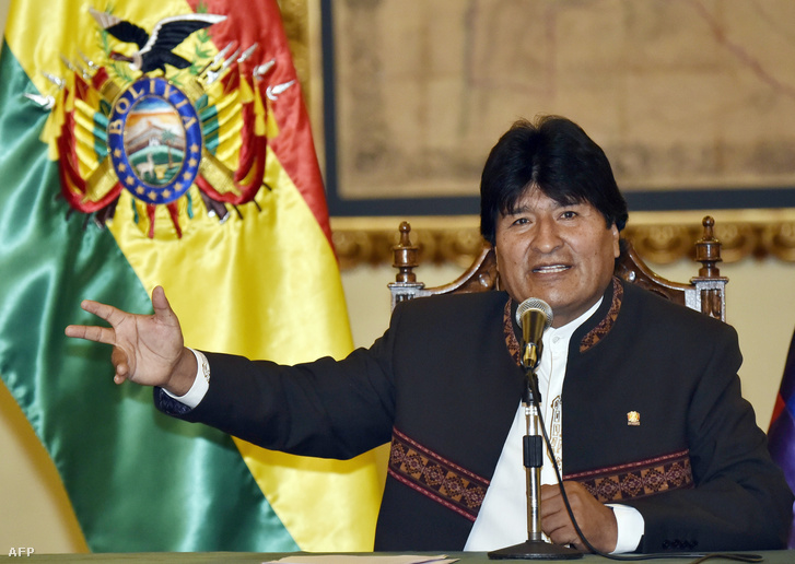 Evo Morales bolíviai elnök