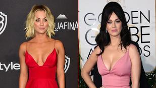 Katy Perry és Kaley Cuoco csöcsháborúja elég kiegyenlített