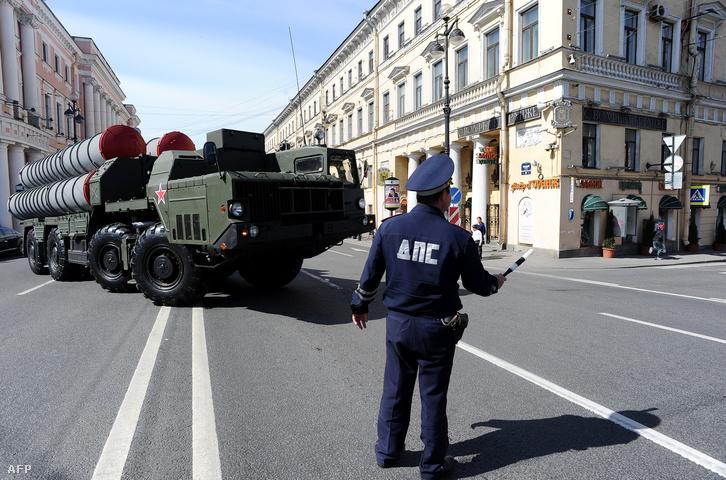 Sz-300-as rakétavédelmi rendszerek a 2014-es Győzelem Napi felvonuláson, Moszkvában
