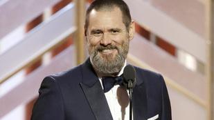 Jim Carrey parádés rögtönzést és furcsa fejet mutatott a Golden Globe-on