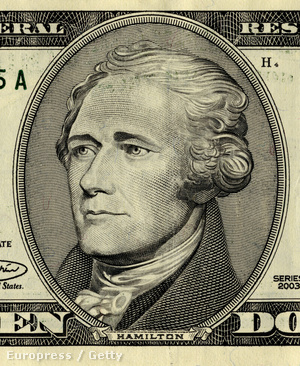 Alexander Hamilton a 10 dolláros bankjegyen