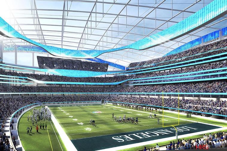 70 ezer néző tombolhat a Rams 2019-es visszatérésén, de Super Bowlra 100 ezerre is ki tudják bővíteni a stadiont