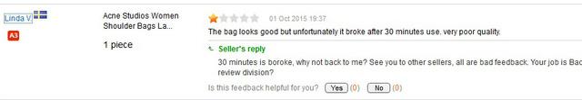 Vajon Linda munkája tényleg az, hogy rossz visszajelzéseket írjon?
