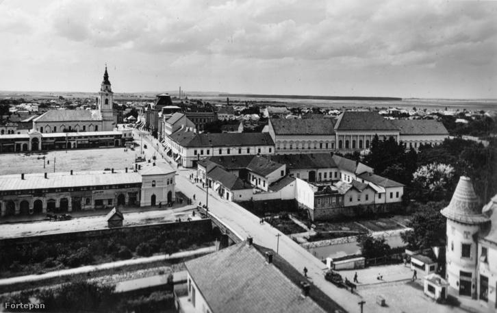 Beregszász utcái 1940-ben