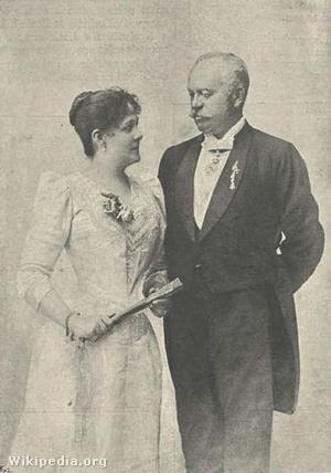 Blaha Lujza és férje, Splényi Ödön, 1896-ban