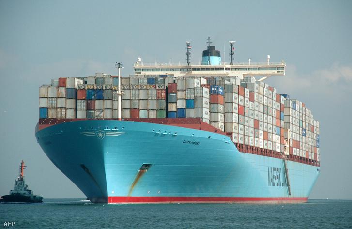 Az Edith Maersk a világ legnagyobb teherszállítója (2012.)