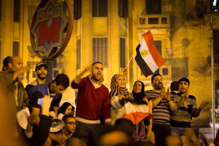 Tüntetők az egyiptomi Tahrír téren (2012.)