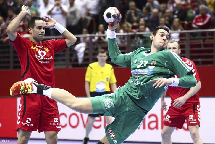 Bánhidi Bence (j) és a montengrói Bogdan Petricevic