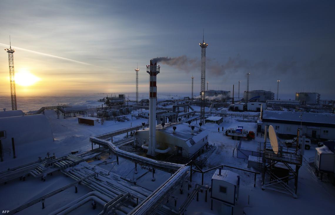 A Gazprom egyik telepe A Novoprotovszkoje régióban?