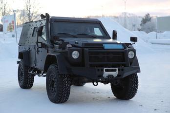 Kémfotókon az új katonai Mercedes