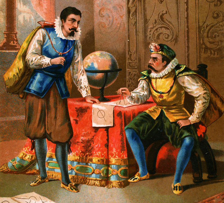 Kepler és Brahe a műhelyükben