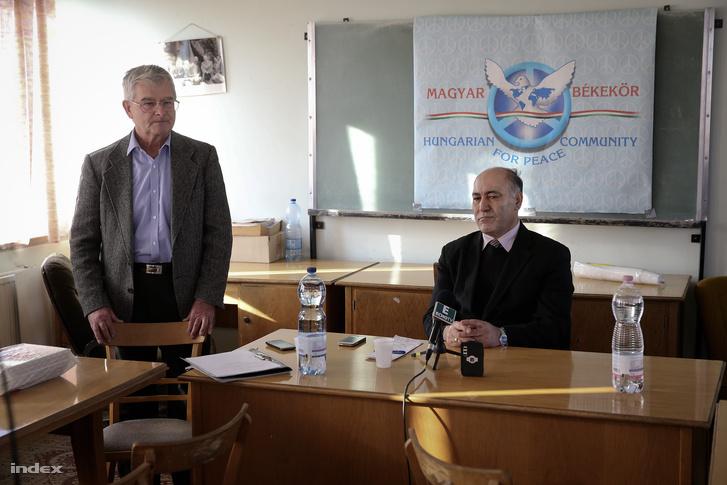 A Békekört alapitó Simó Endre és Bchara Joul