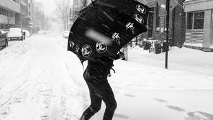 Mihalik Enikő, a New York-i hó fogságában
