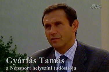 Gyárfás Tamás a Los Angeles-i olimpia helyszíni tudósítójaként, 1984-ben