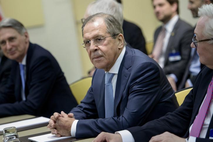 Szergej Lavrov orosz külügyminiszter.