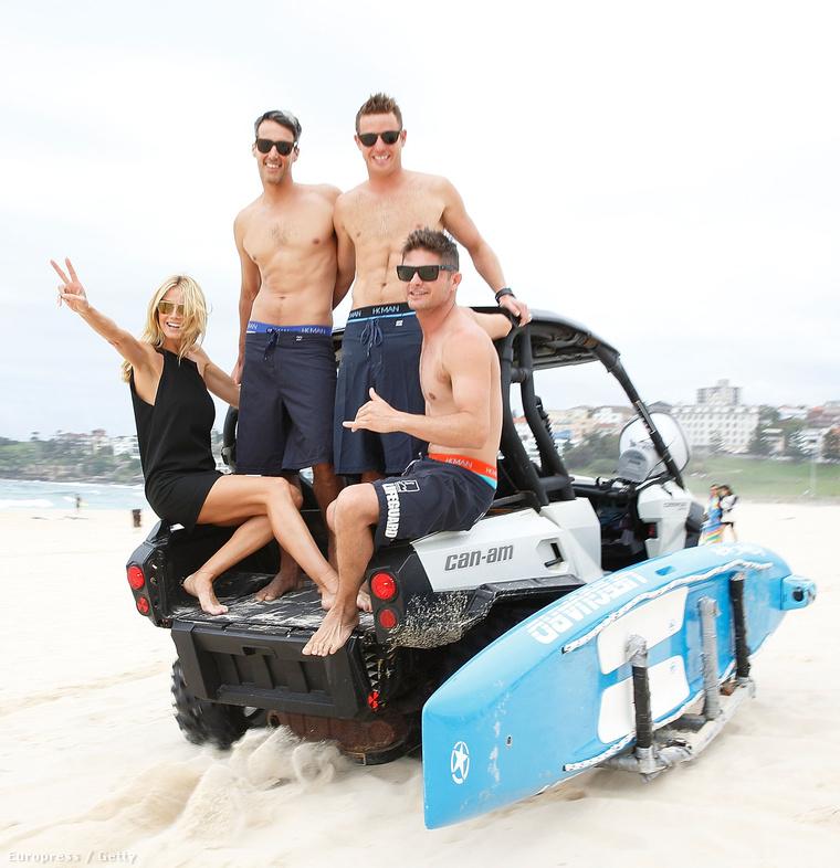 Két nappal korábban: Heidi Klum és modelljei a strandon Syndey-ben