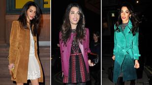 Amal Clooney 10 millió forintot költött kabátokra