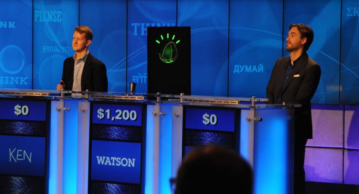 Watson 2011-es győzelme a Jeopardy! játékban.