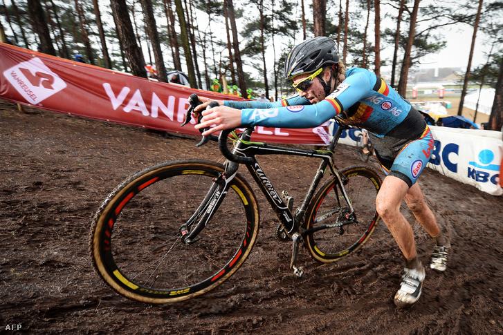 Femke van den Driessche a január 30-i cyclocross versenyen
