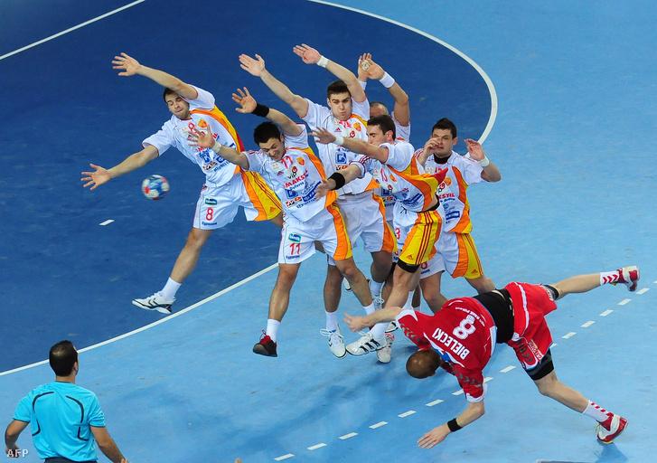 Macedón-lengyel meccs 2009 januárjában