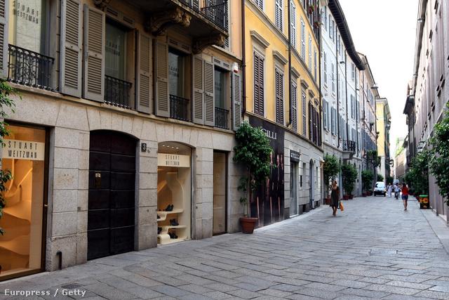 A Via della Spiga csak látszólag ilyen nyugalmas.