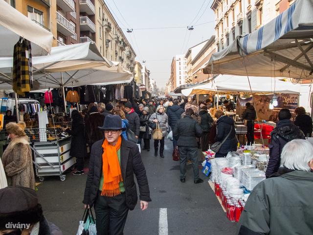 Via Fauché piac szombat reggel