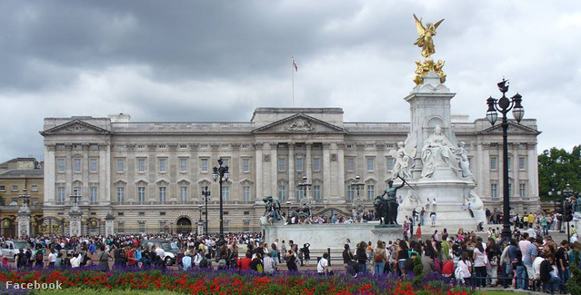 A Buckingham-palota Londonban.