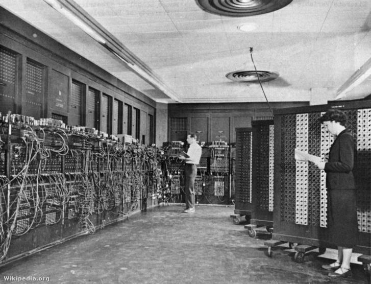 Az ENIAC munka közben