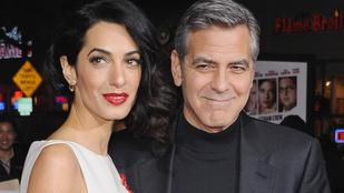 George Clooney és felesége akkorát bulikáztak, mint az ólajtó