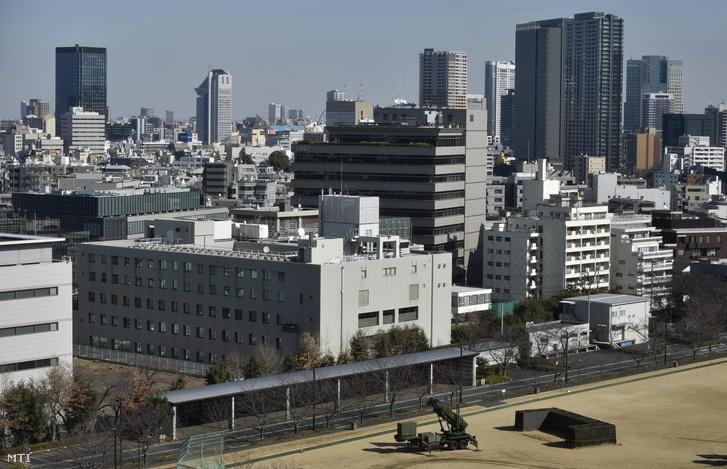 Légvédelmi egység Tokió belvárosában