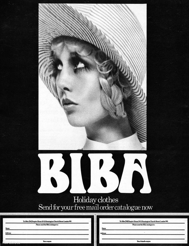 Ilyen kis szelvényeken keresztül lehetett ruhát rendelni a Bibától a 60-as évek elején.