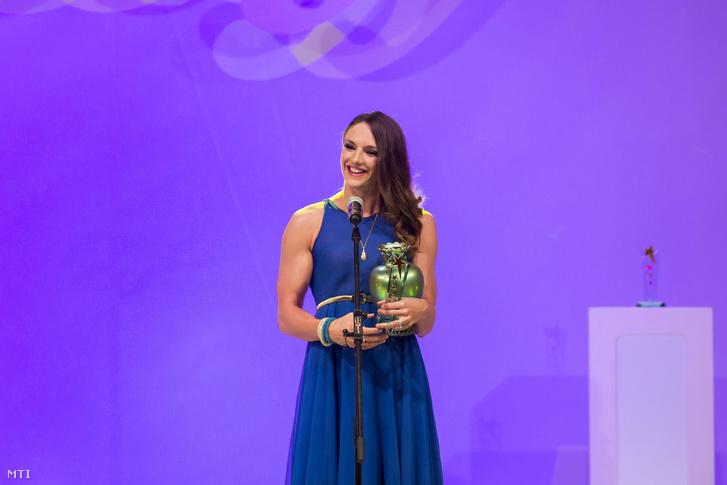 Hosszú Katinka Az Év Sportolója díjátadón, 2015. február 7-én.