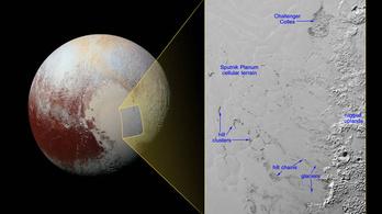 Lebegő jéghegyek vándorolnak a Plútó felszínén