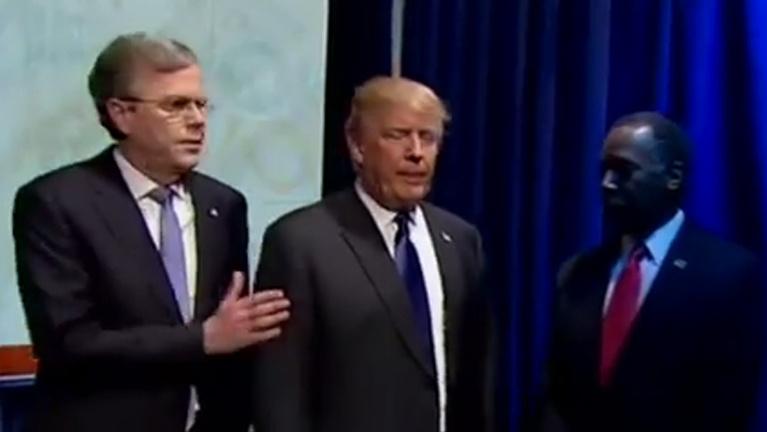 Már a bevonulásnál jó kis kavarodás volt a republikánus vitán