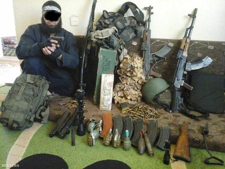 Egy Németországban a napokban elfogott algériai férfi fotója