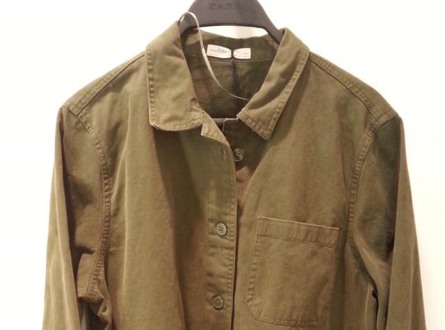 Zara: találja ki, mennyibe kerül ez a vastagabb vászonból készült ing és kabát közti átmenet! (Segítség: nyár végén 2500 forintért vettem hasonlót a Bershka leárazásán)
